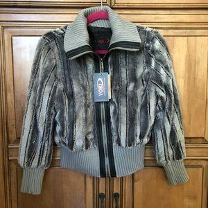 NWT Yoki faux fur kids jacket